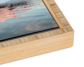 Bamboo Slim Float Frame with a Natural Finish